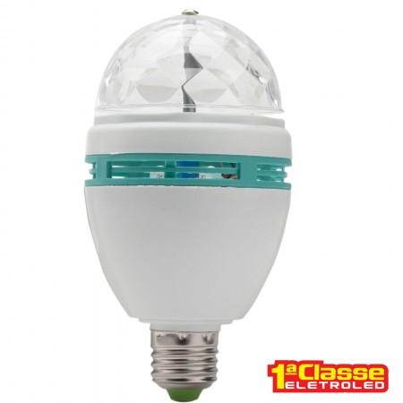 LÂMPADA LED GIRATÓRIA E27 RGB