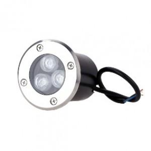 LUMIN P/PISO EMBUTIR LED 3W BQ 2700 K - NITROLUX