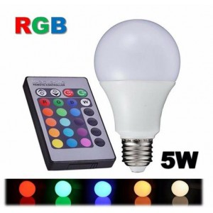 LAMPADA BULBO RGBW 5W-POWER