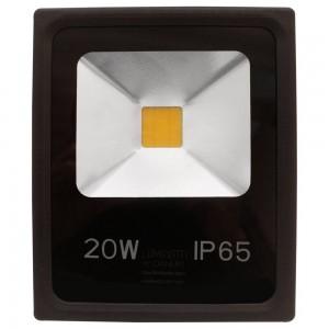 REFLETOR LED 20W PRETO 6000K BRANCO FRIO IP65